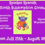 Speekee-Spanish-Giveaway
