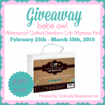 bebé owl Waterproof Quilted Bamboo Crib Mattress Pad giveaway