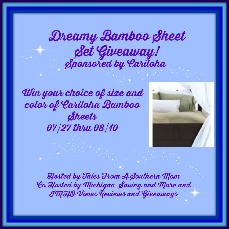 Dreamy Bamboo Sheet Set Giveaway! Ends 8/10