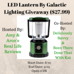 LED Lantern By Galactic Lighting Giveaway