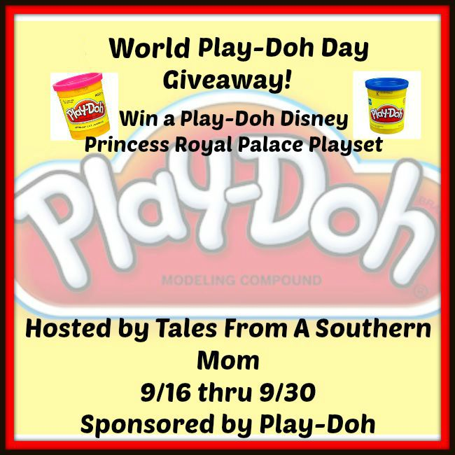 Enter the World Play-Doh Day Giveaway. Ends 9/30