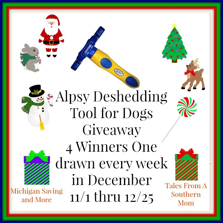 Enter the ALPSY Group Deshedding Tool Giveaway. Ends 12/25