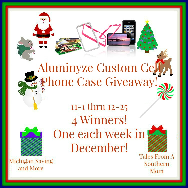 Enter the Aluminyze Custom Cell Phone Case Giveaway. Ends 12/25