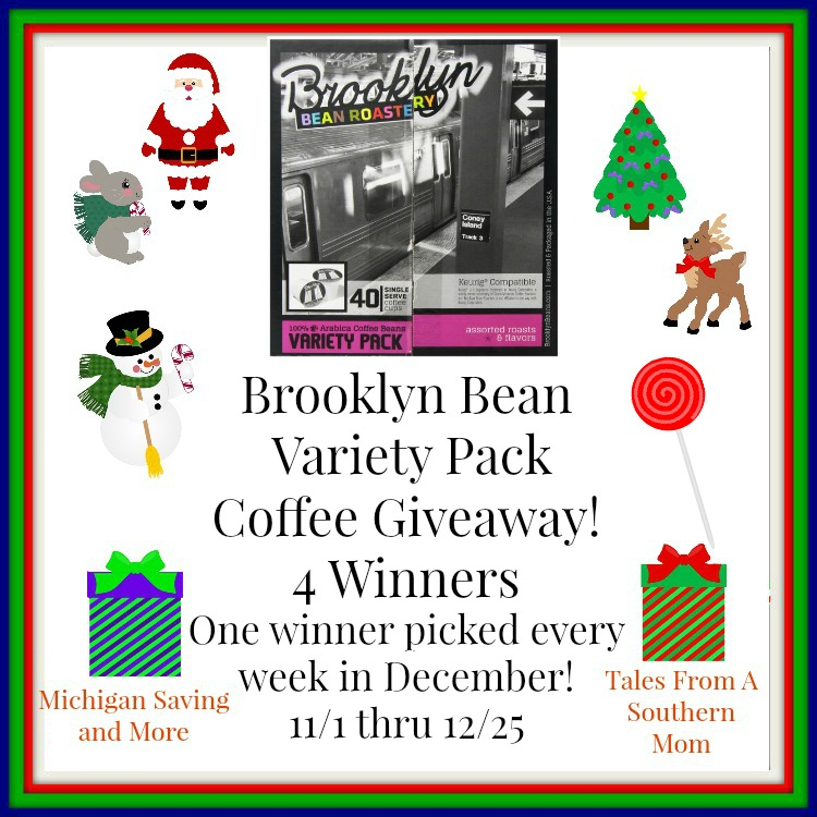 Enter the Brooklyn Bean Variety Pack Coffee Giveaway. Ends 12/25