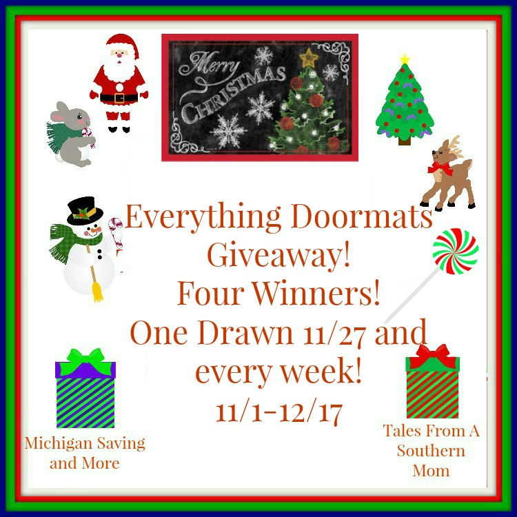 Enter the Everything Doormats Giveaway. Ends 12/17
