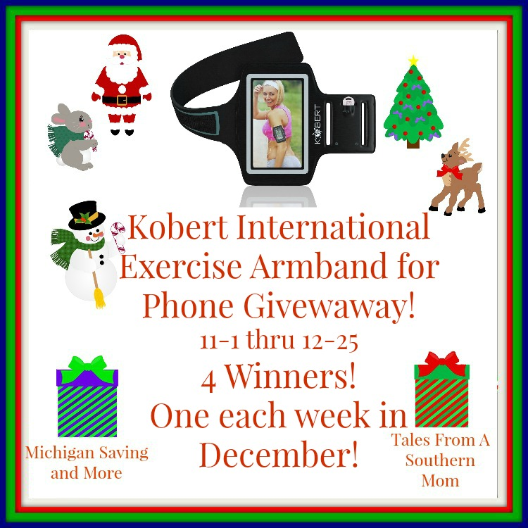 Enter the Kobert International Exercise Armband for Phone #Giveaway. Ends 12/25
