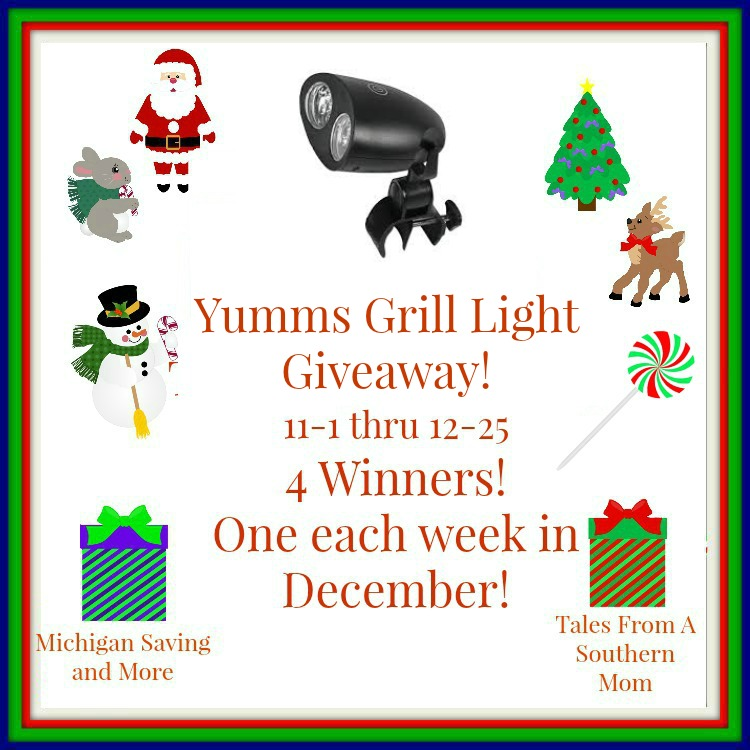 Enter the Yumms! Grill Light Giveaway. Ends 12/25