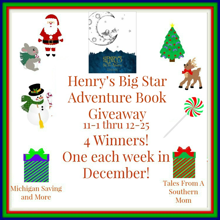 Enter to win Henry's Big Star Adventure Book Giveaway. Ends 12/25