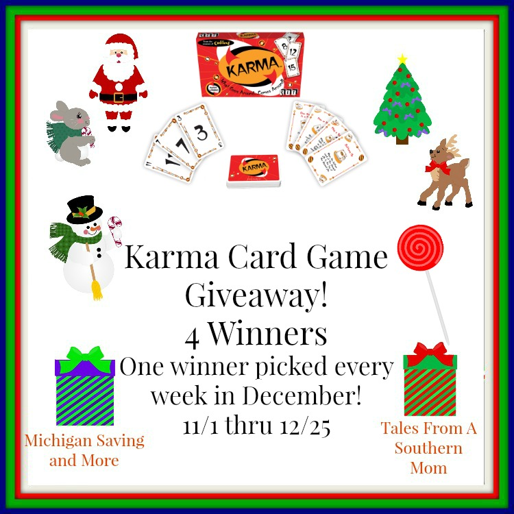 Enter the Karma Card Game by Set Games Giveaway. Ends 12/25