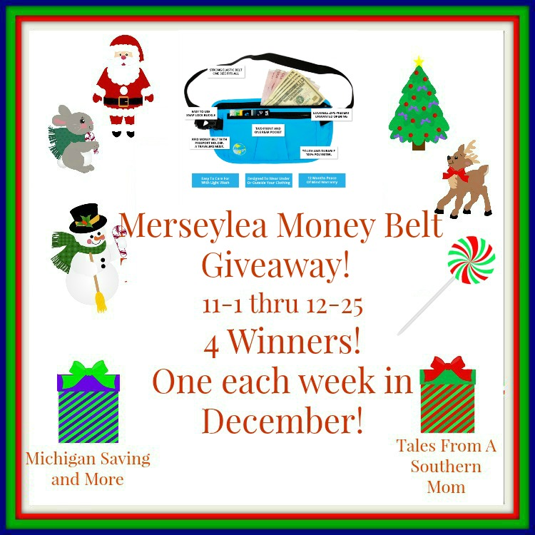 Enter the Merseylea Money Belt Giveaway. Ends 12/25