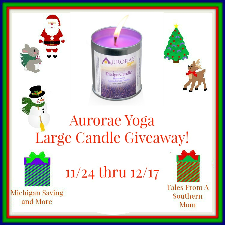 Enter the Aurorae Yoga Large Candle Giveaway. Ends 12/17