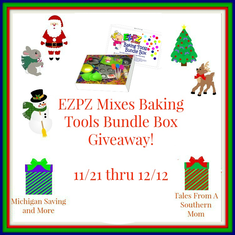 Enter the EZPZ Mixes Baking Tools Bundle Box Giveaway. Ends 12/12