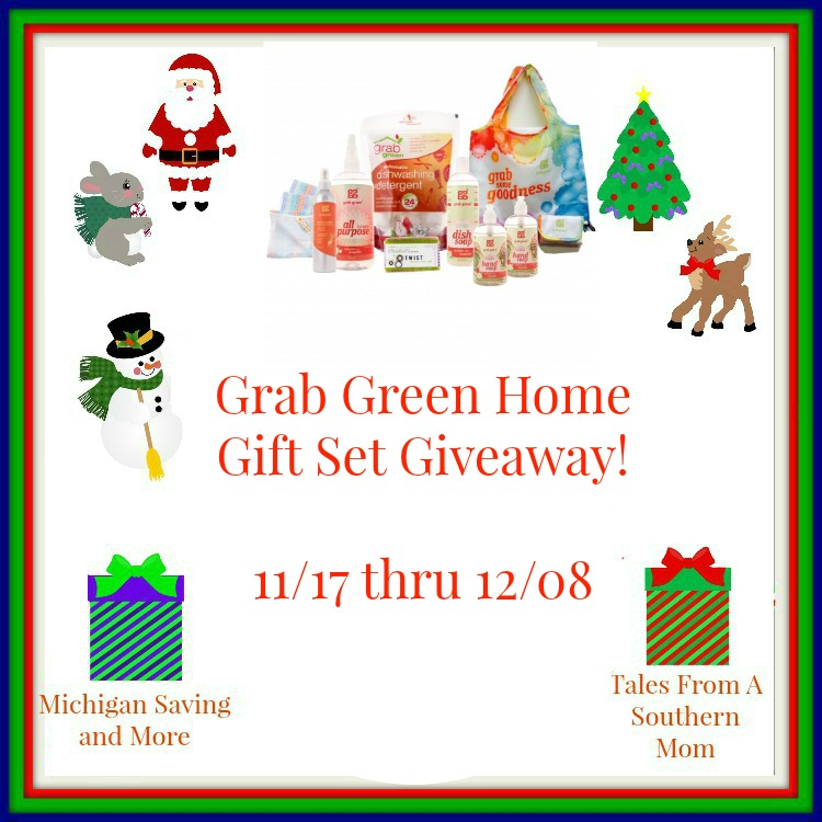 Enter the Grab Green Home Gift Set Giveaway. Ends 12/8