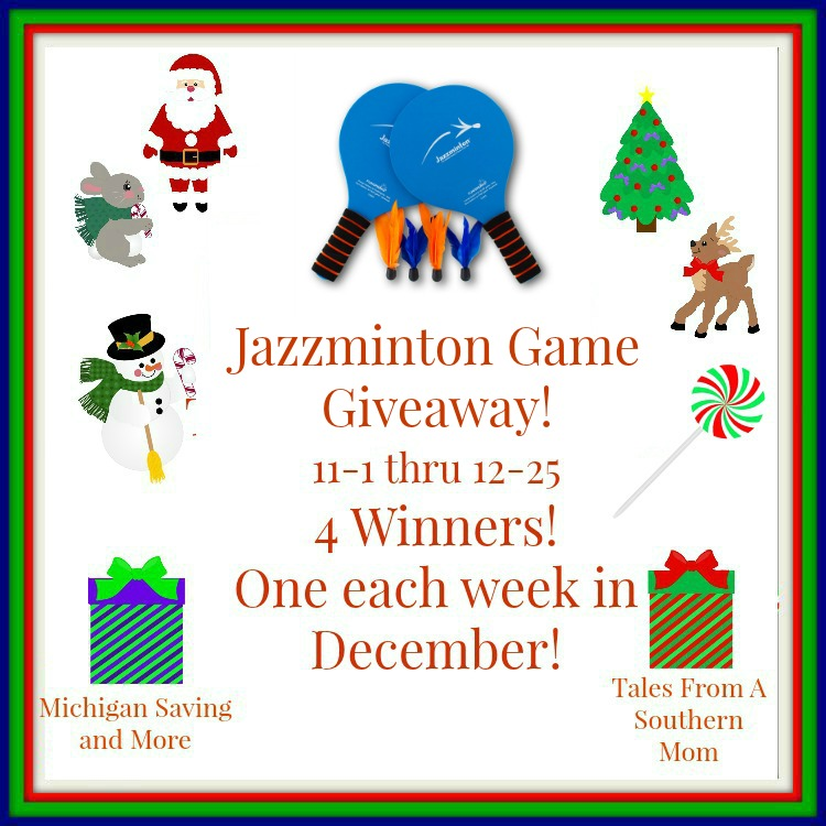 Enter to win the Fun Sparks Jazzminton Game Giveaway. Ends 12/25