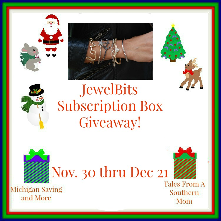 Enter the JewelBits Subscription Box Giveaway. Ends 12/21.