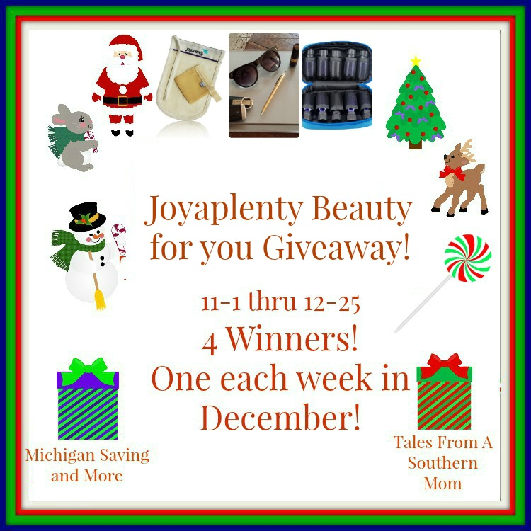 Enter the Joyaplenty Beauty for You Giveaway! Ends 12/25