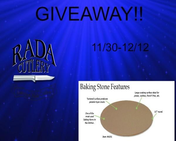 Rada Cutlery Baking Stone Giveaway 12/12