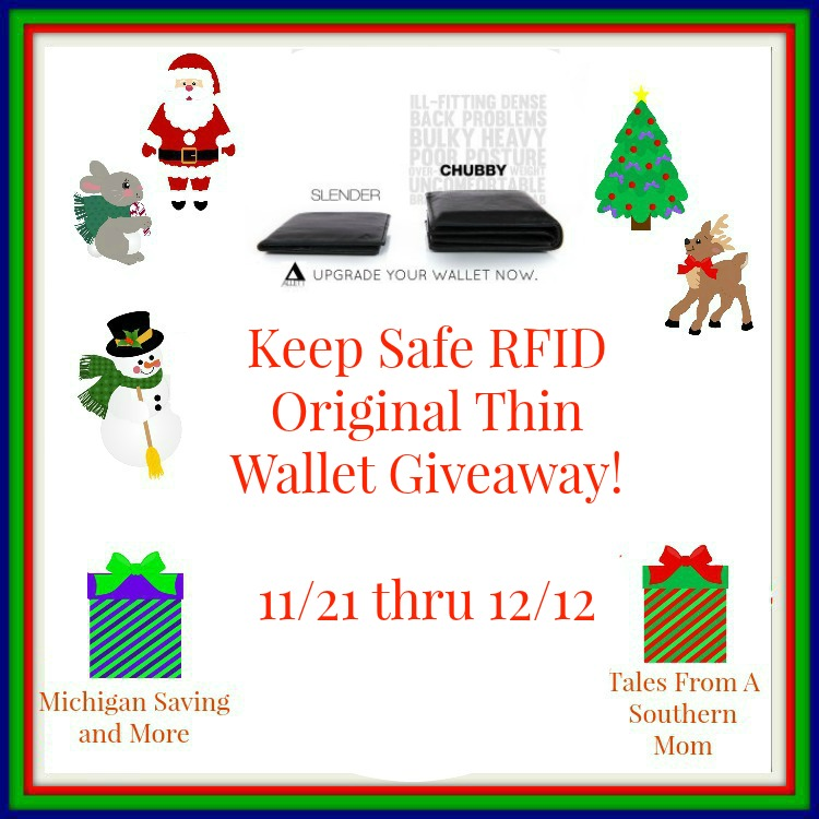 Enter the Allet Keep Safe RFID Original Thin Wallet Giveaway. Ends 12/12