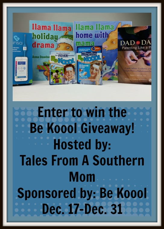 Enter the Be Koool Giveaway. Ends 12/31