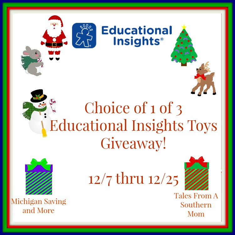 Enter the Educational Insights Toy Giveaway. Ends 12/25
