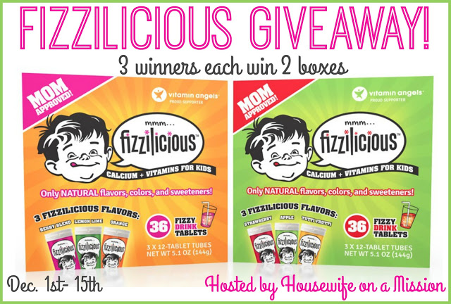 Fizzilicious Giveaway 12/15