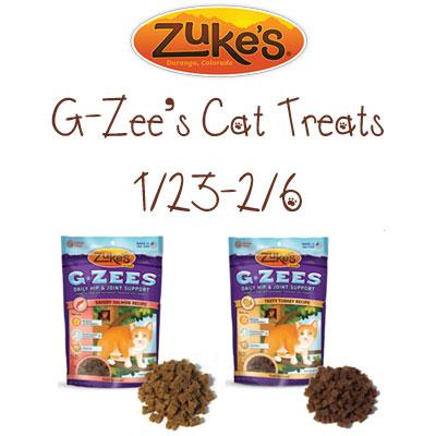 Zuke's G-Zees Cat Treats Giveaway 2/6