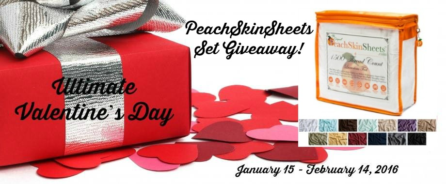 Enter the PeachSkin Sheets Giveaway. Ends 2/14