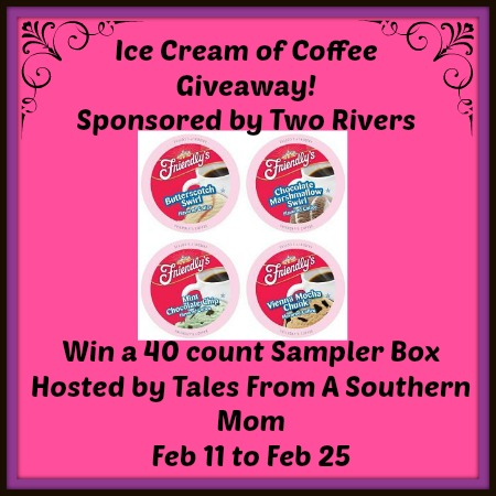Enter the Ice Cream of Coffee Giveaway. Ends 2/25
