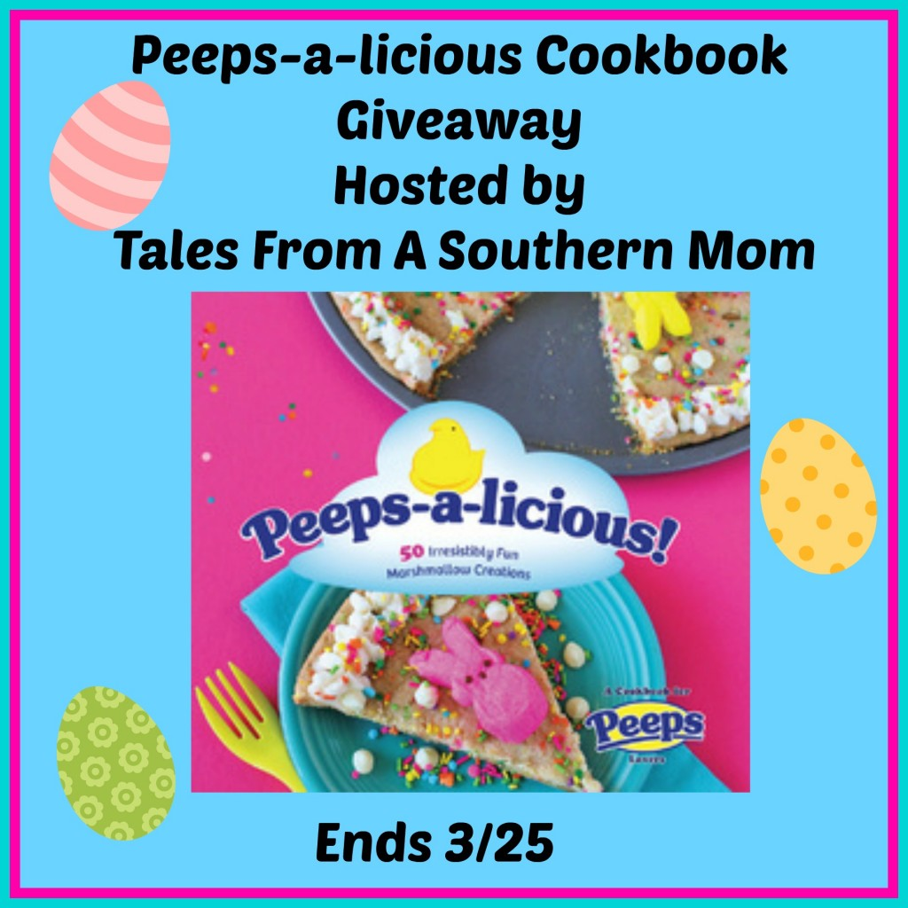 Enter the Peeps-a-licious Cookbook Giveaway. Ends 3/25