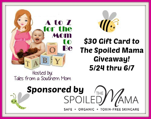 Enter by 6/7 for your chance to win a $30 Gift Card to The Spoiled Mama web store